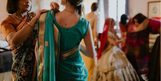 Getting Ready Bride Indian Wedding